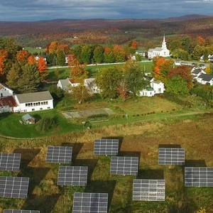 Solar Trackers on Sterling College Campus, Craftsbury Common, VT