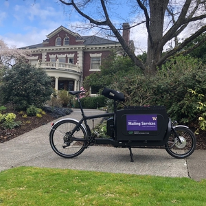 University of Washington mailing delivery e-bike program