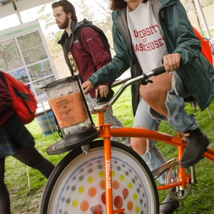 UMass Amherst Students Bike for Sustainable Smoothies on Earth Day