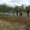 work day with stakeholders, students, and gardeners (April 21, 2015)