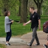 Happy Earth Day! Ohio State passed out reusable lunch and sandwich bags to students to raise sustainability awareness.