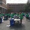 Sort teams go through waste from 100,000