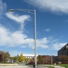Students were directly responsible for the university moving forward to replace existing High Pressure Sodium Lamps with LEDs along major traffic routes on campus. To date, the Green RFP Program has provided funds for 66 lamps.  LEDs were first placed along Washington Street.