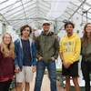 Fall 2019 Capstone students poised to begin planting crops.