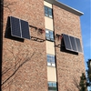 This photo was taken by Ray Santangelo in Capital Programs. This is a photo of the solar panels being installed outside of Hodgdon Hall on 12/5/18. This was a student project partially funded from the Green Fund.
